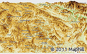 Physical Panoramic Map of Phongsaly