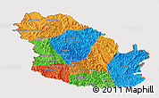 Political Panoramic Map of Phongsaly, cropped outside