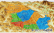 Political Panoramic Map of Phongsaly, physical outside