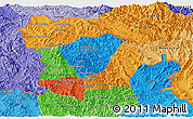 Political Panoramic Map of Phongsaly, political shades outside