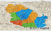 Political Panoramic Map of Phongsaly, shaded relief outside