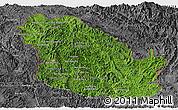 Satellite Panoramic Map of Phongsaly, desaturated