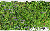 Satellite Panoramic Map of Phongsaly