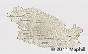 Shaded Relief Panoramic Map of Phongsaly, cropped outside