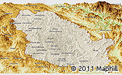Shaded Relief Panoramic Map of Phongsaly, physical outside