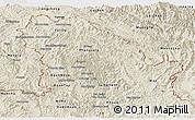 Shaded Relief Panoramic Map of Phongsaly