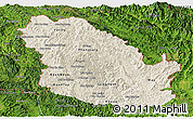 Shaded Relief Panoramic Map of Phongsaly, satellite outside