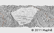 Gray Panoramic Map of Phongsaly
