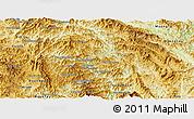 Physical Panoramic Map of Phongsaly