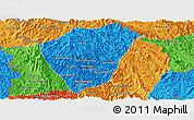 Political Panoramic Map of Phongsaly