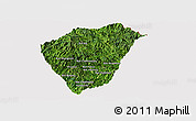 Satellite Panoramic Map of Phongsaly, cropped outside