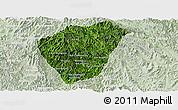 Satellite Panoramic Map of Phongsaly, lighten