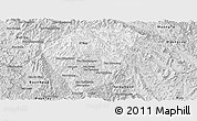 Silver Style Panoramic Map of Phongsaly