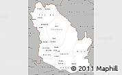Gray Simple Map of Phongsaly