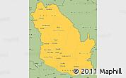Savanna Style Simple Map of Phongsaly