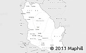 Silver Style Simple Map of Phongsaly