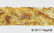 Physical Panoramic Map of Yot Ou