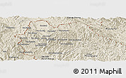 Shaded Relief Panoramic Map of Yot Ou