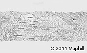 Silver Style Panoramic Map of Yot Ou