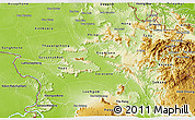 Physical 3D Map of Saravane