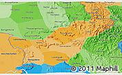 Political Shades 3D Map of Saravane