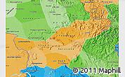 Political Shades Map of Saravane