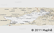 Classic Style Panoramic Map of Saravane