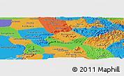 Political Panoramic Map of Saravane