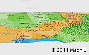Political Shades Panoramic Map of Saravane