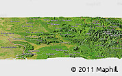 Satellite Panoramic Map of Saravane