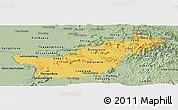 Savanna Style Panoramic Map of Saravane