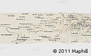 Shaded Relief Panoramic Map of Saravane