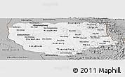 Gray Panoramic Map of Savannakhet
