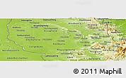 Physical Panoramic Map of Savannakhet