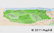 Political Shades Panoramic Map of Savannakhet, lighten