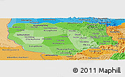 Political Shades Panoramic Map of Savannakhet