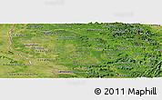Satellite Panoramic Map of Savannakhet