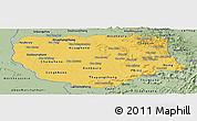 Savanna Style Panoramic Map of Savannakhet