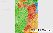 Political Shades 3D Map of Sayabouri