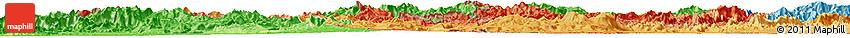 Political Shades Horizon Map of Sayabouri
