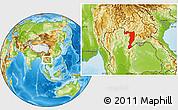 Physical Location Map of Sayabouri