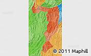 Political Shades Map of Sayabouri