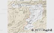 Classic Style Panoramic Map of Sayabouri