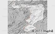 Gray Panoramic Map of Sayabouri