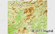 Physical Panoramic Map of Sayabouri