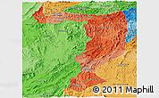 Political Shades Panoramic Map of Sayabouri