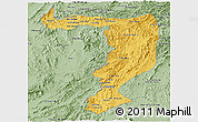 Savanna Style Panoramic Map of Sayabouri