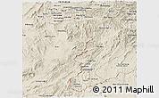 Shaded Relief Panoramic Map of Sayabouri