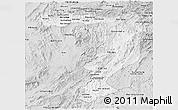 Silver Style Panoramic Map of Sayabouri