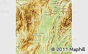 Physical Map of Sayaboury